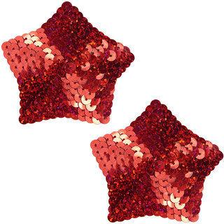 AAYAN BABY Red Star Polyester Reusable Nipple Covers