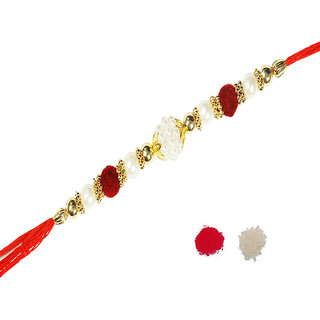 Multi Pearl Rakhi With Beautiful Design By Shreeng