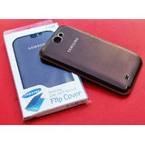 Metallic Finish Flip Hard Cover For Samsung Galaxy Note II / N7100 Brown