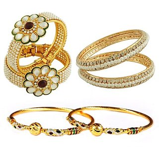 Luxor Alloy Yellow Gold Bangle Set