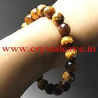 Tiger Eye Faceted (cutting) Healing  Bracelet 8 MM AAA+++