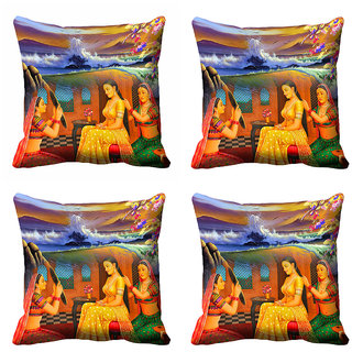 meSleep 3D Beautiful Nature Cushion Cover (16x16)