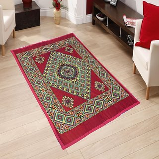 Sns Multicolor Abstract Quilt Carpet