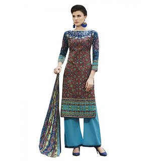 Sareemall Multi Self Designer  Printed Dress Material With Matching Dupatta