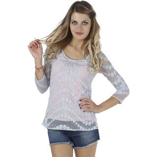 IRALZO Sheer Lace Top