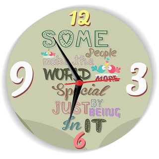 Sky Trends Some People Make The World More Special By Just Being In It With Color Mehndi Special Gifts For Birthday Anniversary Wall Clock