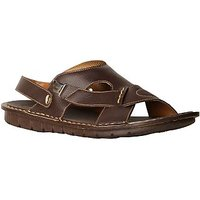 Bata MenS Kripton Sandal Brown Buckle Sandals