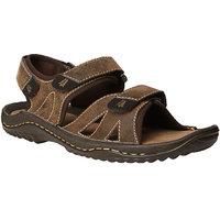 Weinbrenner MenS Lagos Brown Velcro Sandals