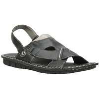 Bata MenS Kripton Sandal Black Slip On Sandals