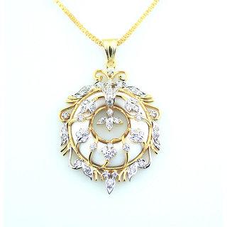 Aristocrat Diamond Gold Plated Silver Pendant
