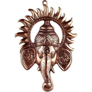 Abhushan Ganesh Ji face Encircled With Suraj Ji Showpiece