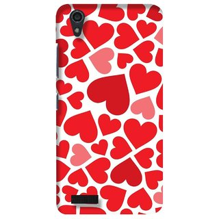 G.store Printed Back Covers for Lenovo A3900 Red 23463