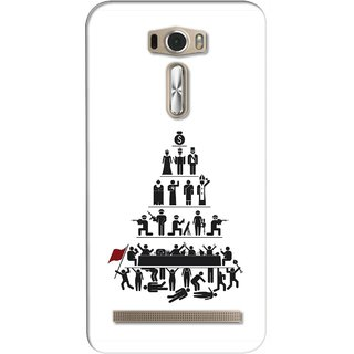G.store Printed Back Covers for Asus ZenFone 2 Laser (ZE601KL) White 26483