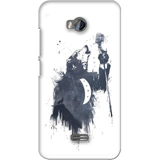 G.store Printed Back Covers for Micromax Bolt Q336 White 28114