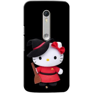 G.store Printed Back Covers for Motorola Moto X Play Black 28778