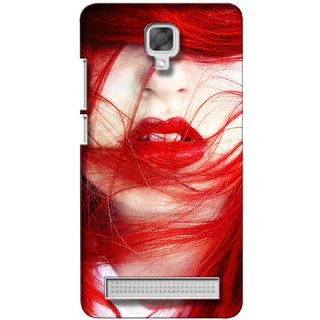 G.store Printed Back Covers for Micromax Bolt Q338 Red 27479