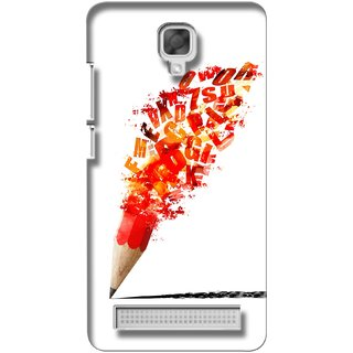 G.store Printed Back Covers for Micromax Bolt Q338 Red 27497
