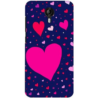 G.store Printed Back Covers for Micromax Canvas Nitro 3 E455  Blue 27964
