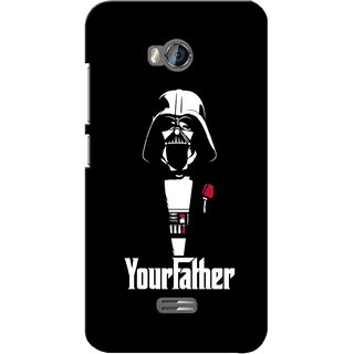 G.store Printed Back Covers for Micromax Bolt Q336 Black 28193