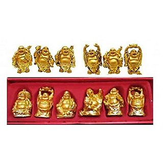 CPM Laughing Budhha (set of 6  pieces)
