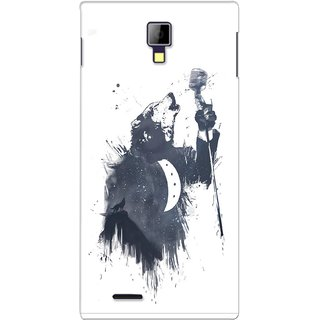 G.store Printed Back Covers for Micromax Canvas Xpress A99 White 28414