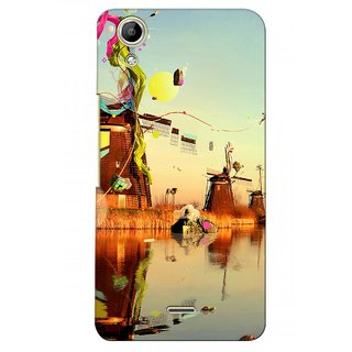 G.store Printed Back Covers for Micromax Canvas Selfie Lens Q345  Multi 28262