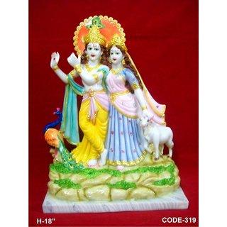 Handicrafts Lord God Radha Krishna / Radha Krsna / Radheshyam Brass