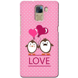 G.store Printed Back Covers for Huawei Honor 7 Pink 33014