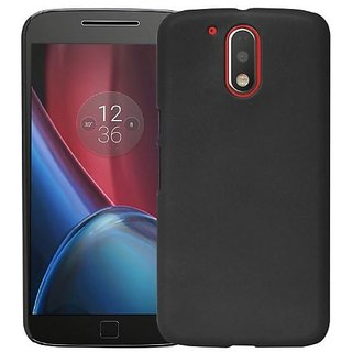 Chevron Back Cover For Moto G Plus 4th Gen (G4) - Black