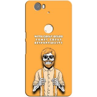 G.store Printed Back Covers for Huawei Nexus 6P Yellow 33750