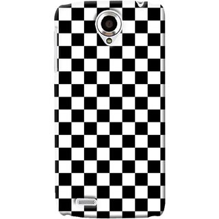G.store Printed Back Covers for Lenovo S820 Black 34639
