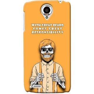 G.store Printed Back Covers for Lenovo S820 Yellow 34650