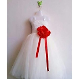 White and Red TuTu Frock