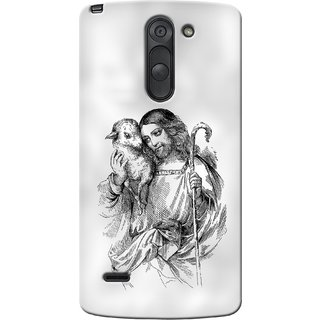 G.store Printed Back Covers for LG G3 Stylus White 35600