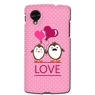 G.store Printed Back Covers for LG Google Nexus 5 Pink 35714