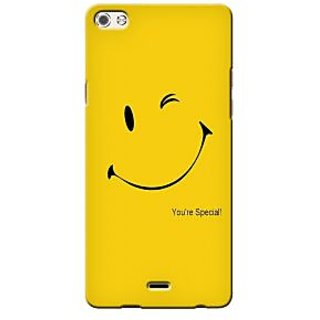 G.store Printed Back Covers for Micromax Canvas 5 Q450 Yellow 36647