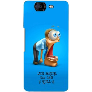 G.store Printed Back Covers for Micromax Canvas Knight A350 Blue 37711