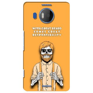 G.store Printed Back Covers for Microsoft Lumia 950 XL Yellow 39050