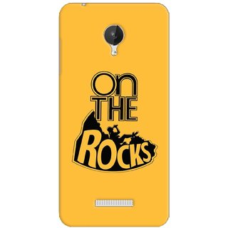 G.store Printed Back Covers for Micromax Canvas Spark Q380 Yellow 38420