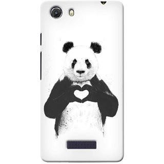 G.store Printed Back Covers for Micromax Unite 3 Q372 White 38695