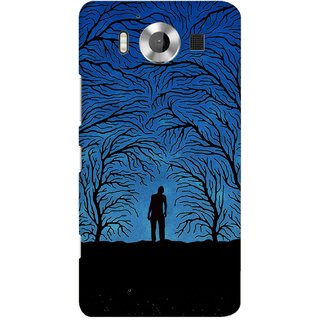 G.store Printed Back Covers for Microsoft Lumia 950 Blue 38919