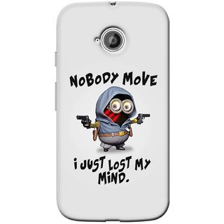 G.store Printed Back Covers for Motorola Moto E 2nd gen Grey 39349