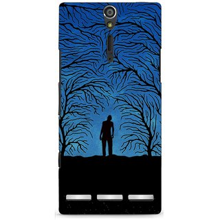 G.store Printed Back Covers for Sony Xperia S Blue 46319