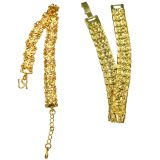 Aadi Jewelsthick Golden Duo Bracelet For Men And Women With Centeric Starz Design With Clasp