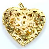 Aadi Jewels Collection 1.64 Open Heart Pendant Crafted With Elegant Design