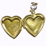 Aadi Jewels Collection 0.8 Open Heart Pendant With Equistely Designed
