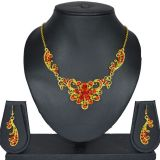 Aakshi Lac Jewellery Set In Red
