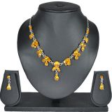 Aakshi Pachchikam Design In Yellow Crafted In The Silver Chain