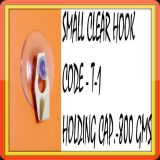 Small Clear Suction Cup Hook