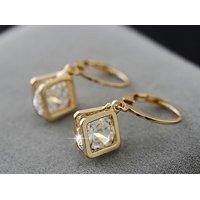 Real 18K gold plated Crystal Zircon earrings jewellery! Crystal Zircon.